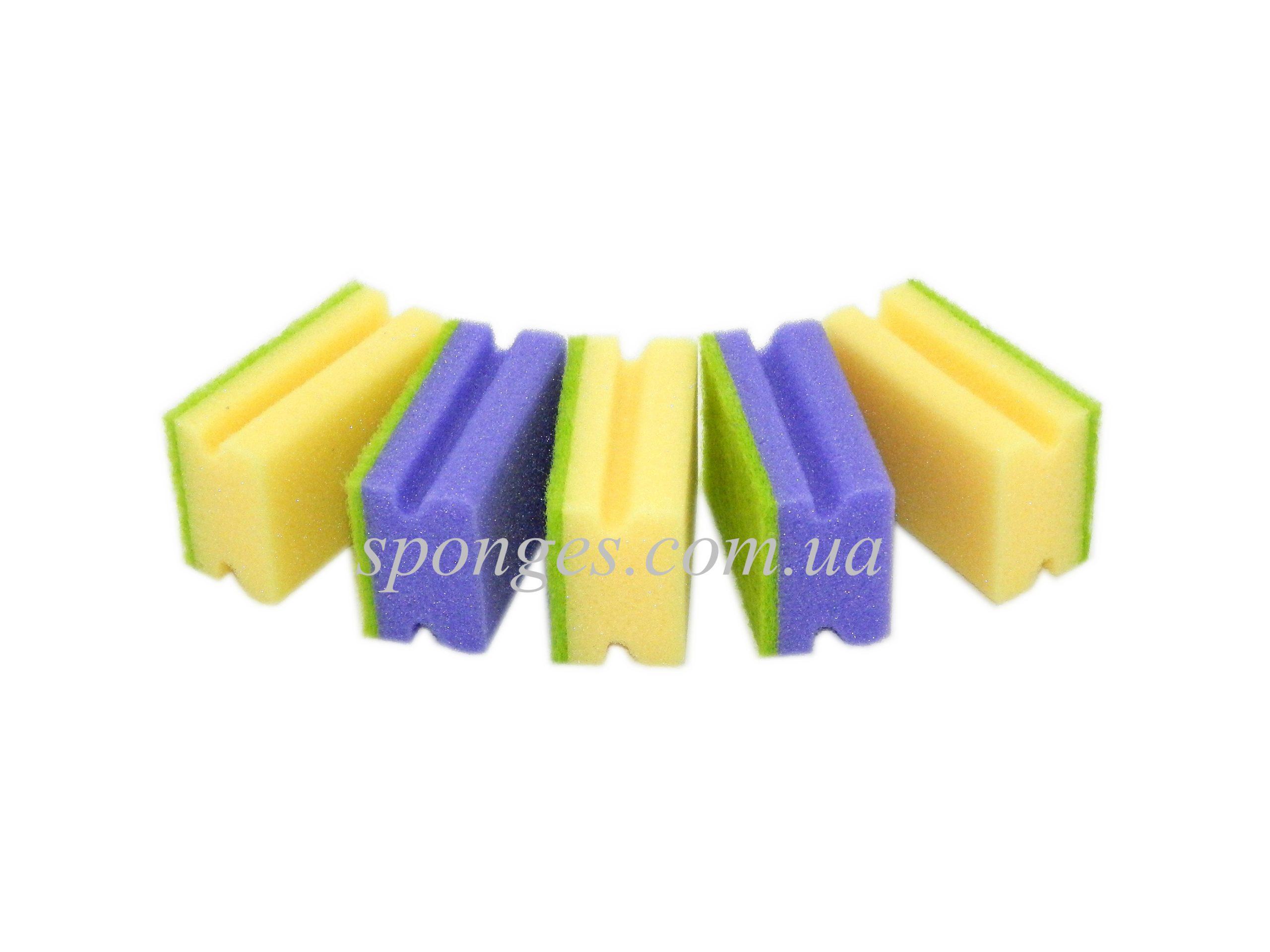 Губки для мытья посуды *Аккорд*- 5 шт .