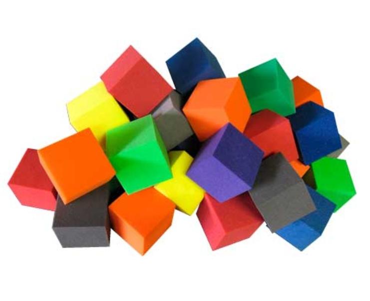 Кубики поролоновые